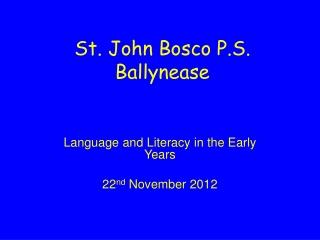 St. John Bosco P.S. Ballynease