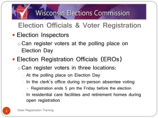 Election Officials & Voter Registration