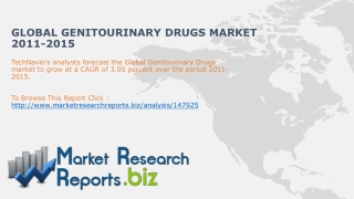 Global Genitourinary Drugs Market Size 2011-2015: