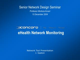 eHealth Network Monitoring