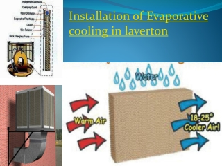 Installation of Evaporative cooling in laverton