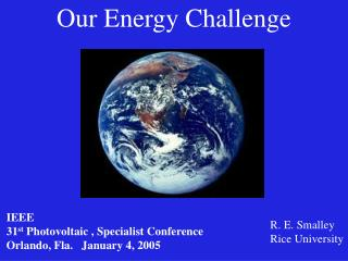 Our Energy Challenge
