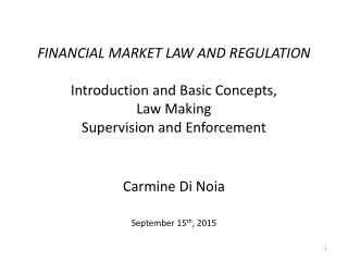 Carmine Di Noia September 15 th , 2015