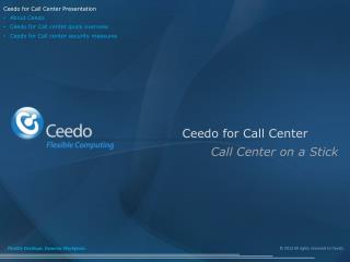 Ceedo for Call Center
