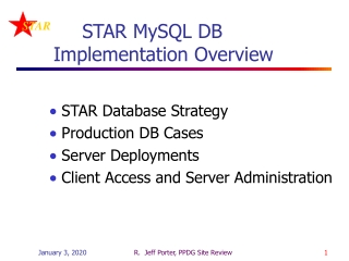 STAR MySQL DB   Implementation Overview