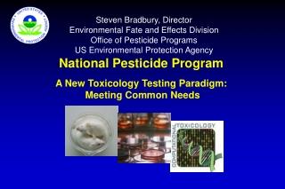 National Pesticide Program A New Toxicology Testing Paradigm:   Meeting Common Needs