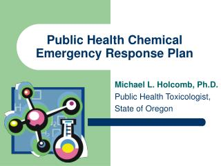 Public Health Chemical Emergency Response Plan