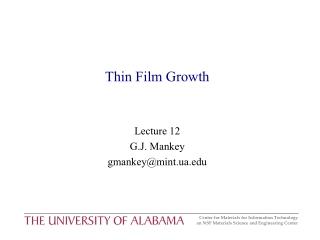 Thin Film Growth