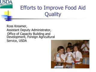 Efforts to Improve Food Aid Quality