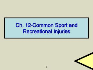 Ch. 12-Common Sport and Recreational Injuries