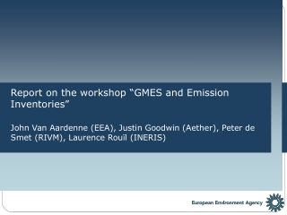 """Report on the workshop """"GMES and Emission Inventories"""""""