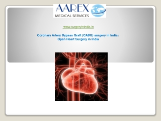 Coronary Artery Bypass Graft (CABG) surgery in India