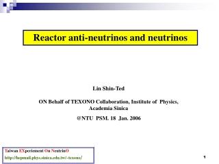 Reactor anti-neutrinos and neutrinos
