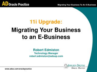 Migrating Your Business to an E-Business