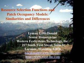 Resource Selection Functions and Patch Occupancy Models:  Similarities and Differences