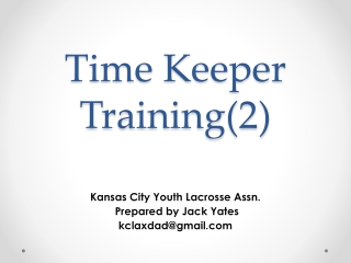 Time Keeper Training(2)