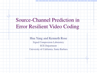 Source-Channel Prediction in Error Resilient Video Coding
