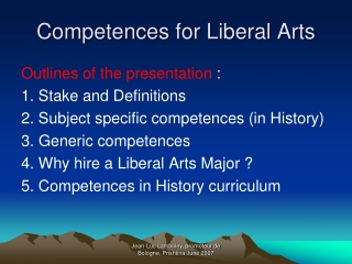 Competences for Liberal Arts