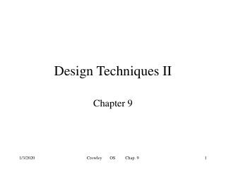 Design Techniques II