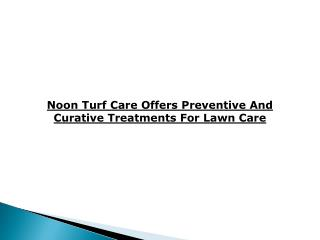 Noon Turf Care Reviews
