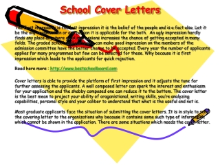 School Cover Letters