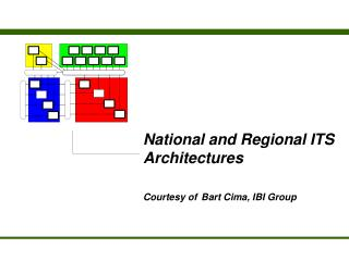 National and Regional ITS Architectures  Courtesy of Bart Cima, IBI Group