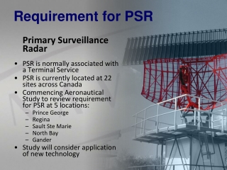 Requirement for PSR