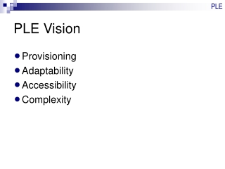 PLE Vision