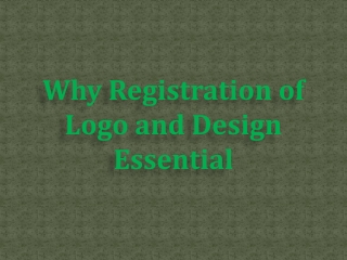 Why Registration of Logo and Design Essential