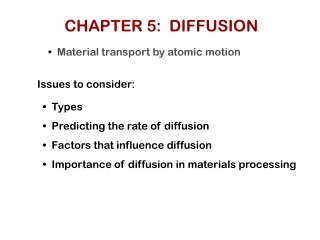 CHAPTER 5:  DIFFUSION