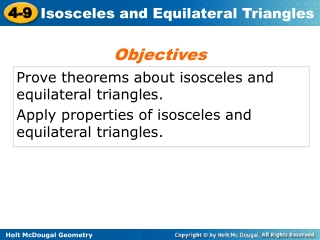 Prove theorems about isosceles and equilateral triangles.