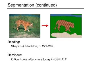 Segmentation (continued)