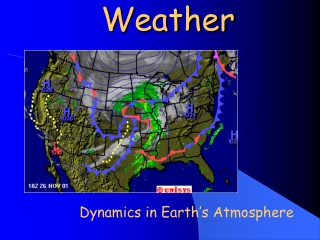 The Atmosphere in Motion:  Air Pressure  Winds