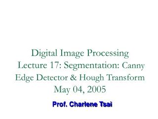 Prof. Charlene Tsai