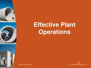 Effective Plant Operations