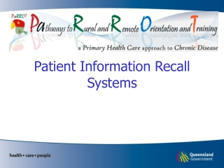 Patient Information Recall Systems