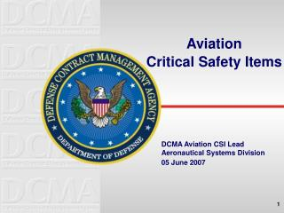 Aviation  Critical Safety Items