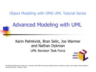Advanced Modeling with UML