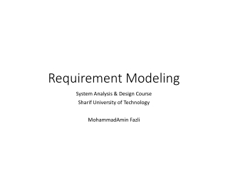 Requirement Modeling