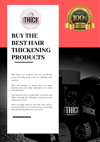 Buy the Best Hair Thickening Product- Look Thick