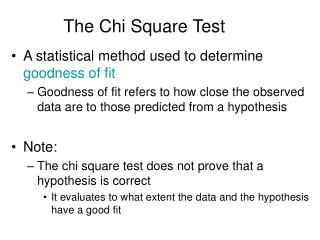The Chi Square Test
