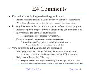 E4 Comments