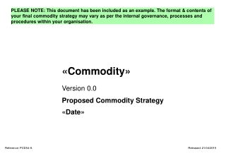 «Commodity»