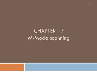 CHAPTER 17 M-Mode scanning