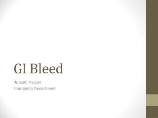 GI Bleed
