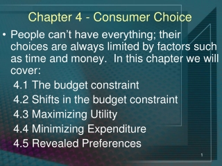 Chapter 4 - Consumer Choice