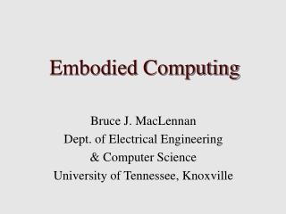Embodied Computing