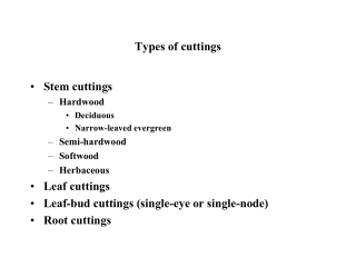 Types of cuttings