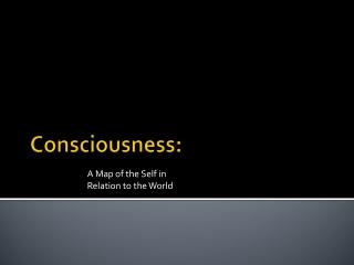 Consciousness: