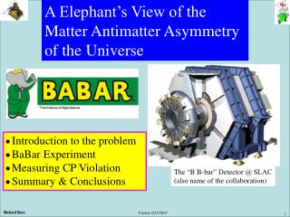 A Elephant's View of the  Matter Antimatter Asymmetry  of the Universe